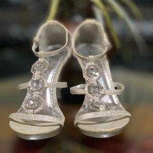 GIBI Collection Damia Crystal Silver Stilleto